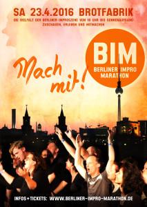 4. Berliner Impro Marathon Poster